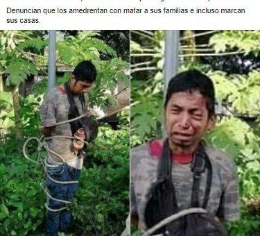 Fotos de hombre golpeado no son de comunario torturado por no bloquear