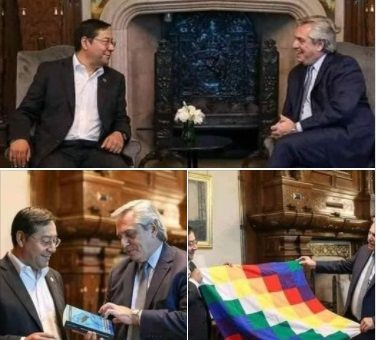 Arce no se reunió recientemente con el presidente de Argentina, estas fotos son antiguas