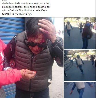 Relacionan una foto del 2017 con las recientes movilizaciones en El Alto