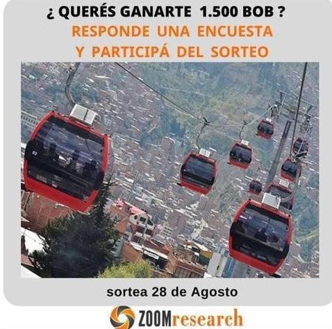 En El Alto se realizó una encuesta y un sorteo para los encuestados de 1.500 bolivianos