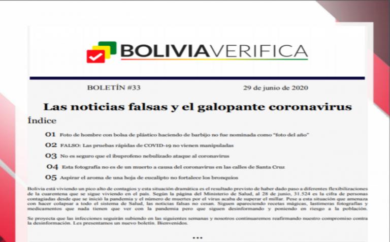 Boletín 33 – Las noticias falsas y el galopante coronavirus – 2020