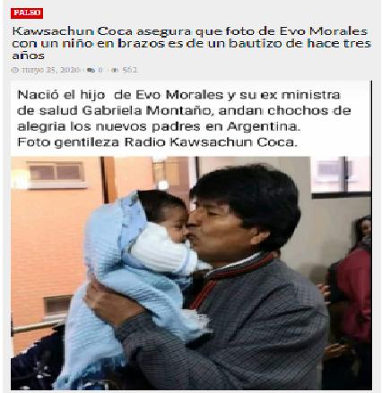 Un tuit falso y una mentira sobre Evo Morales se difunden en redes sociales