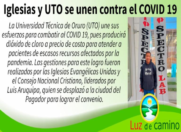 Iglesia evangélica reparte dióxido de cloro en La Paz y El Alto