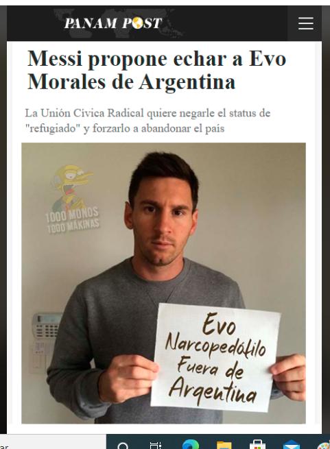 Messi no pide expulsar a Evo Morales de Argentina