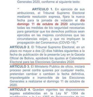 Circula en redes: Supuesta ley para adelantar la fecha de elecciones es falsa