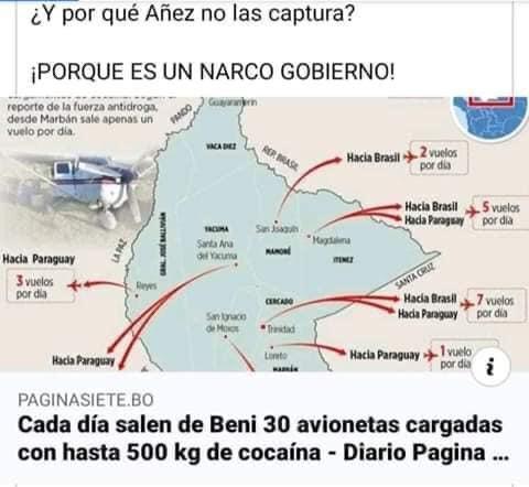 Noticia de 2019 sobre transporte de cocaína en Beni circula como actual