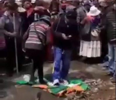 Video de personas pisando la bandera cruceña no es actual, es de 2019