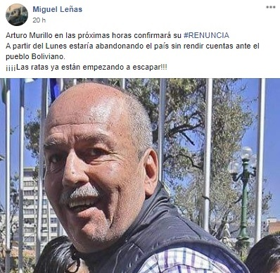 Arturo Murillo no renunció a su cargo de ministro