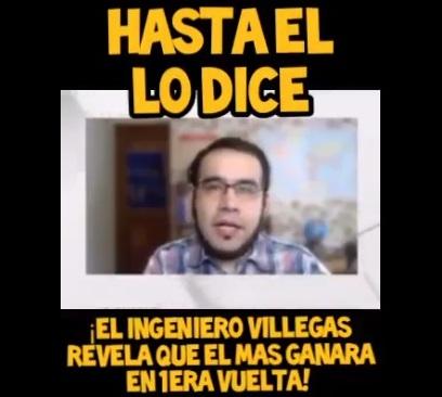 Edgar Villegas no «reveló» que el MAS ganará en primera vuelta, como asegura un post
