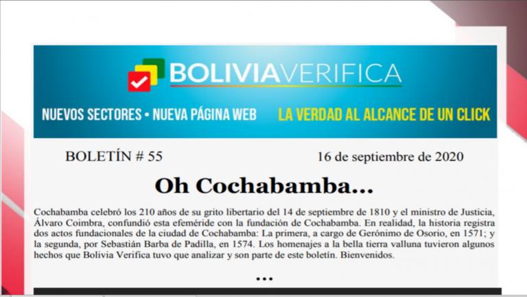 Boletín 55 – Oh Cochabamba… – 2020