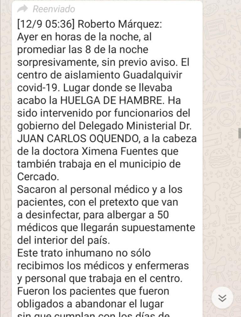 Centro de aislamiento en Tarija no fue intervenido, pero sí trasladaron a pacientes con COVID