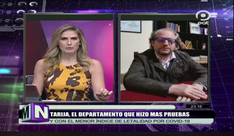 Tarija: Oliva dice que 10% de la población hizo prueba de Covid-19, los datos no coinciden con proyección del INE
