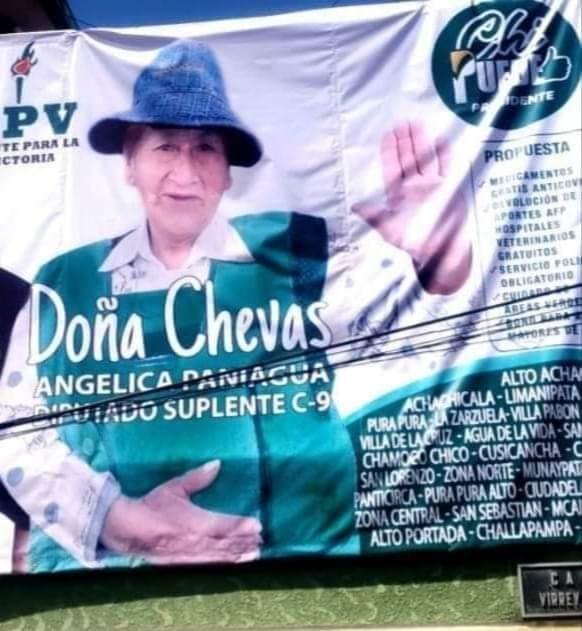 Confirmado: 'Doña Chevas' está registrada como candidata a diputada por FPV