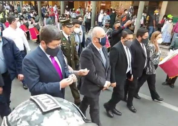 Doria Medina participó del tedeum de Cochabamba junto a los ministros de Estado