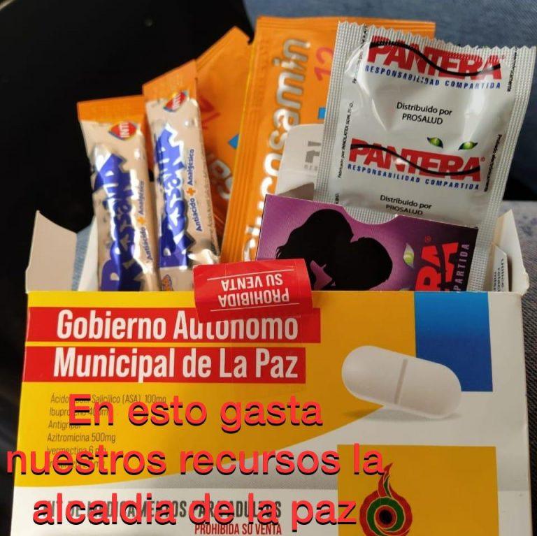 La Paz: Kit de medicamentos no contienen preservativos ni insumos para la resaca