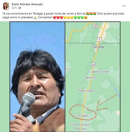 Usan cuenta falsa Evaliz Morales para anunciar supuesto retorno de Morales y su entorno