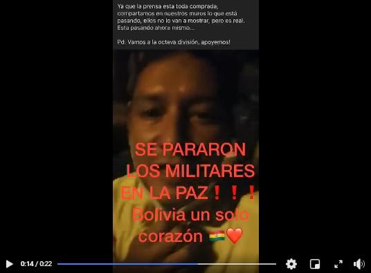 Militares de La Paz no pararon sus actividades