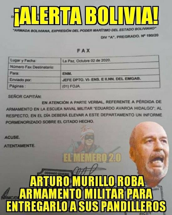 Murillo no tuvo relación con el robo de armamento militar