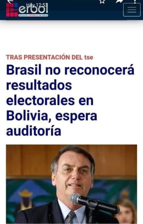 No es cierto que Brasil espera una auditoría electoral para reconocer a Luis Arce