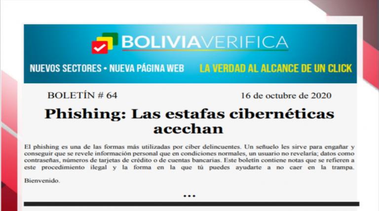 Boletín 64 – Phishing: Las estafas cibernéticas acechan – 2020