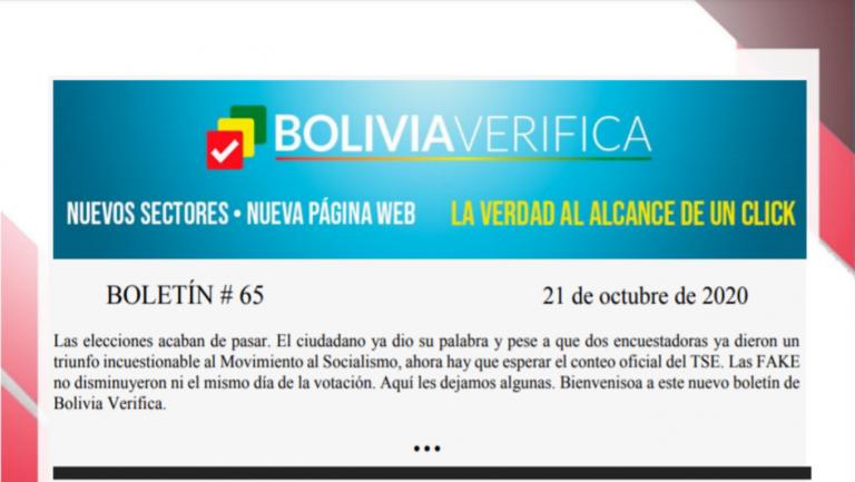 Boletín 65 – Bolivia Verifica – 2020