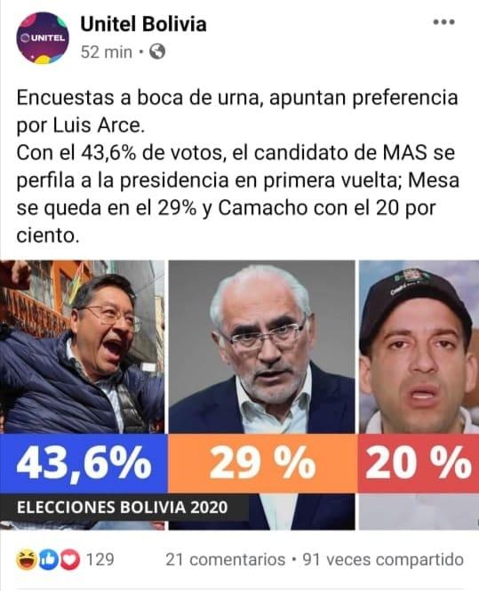 Difunden datos falsos del supuesto conteo de votos en boca de urna