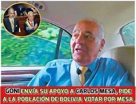 Goni no envió su apoyo a Carlos Mesa ni pidió a Bolivia que vote por él
