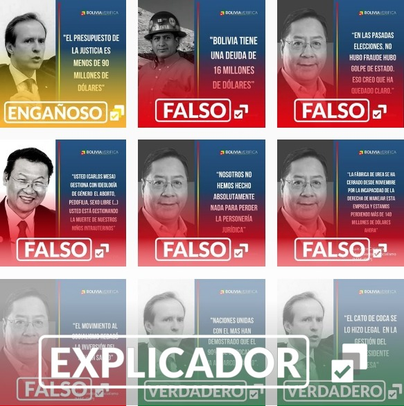 Bolivia Verifica a la caza de mentiras en tiempo real