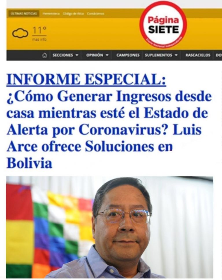 Noticia falsa: Ni Luis Arce, ni Página Siete informaron sobre el uso del Bitcoin-Dólar en el país