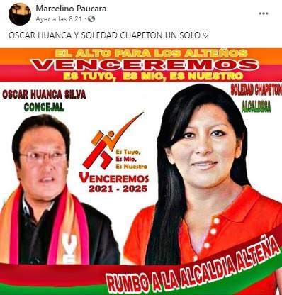 No existe una alianza entre Venceremos y Soledad Chapetón