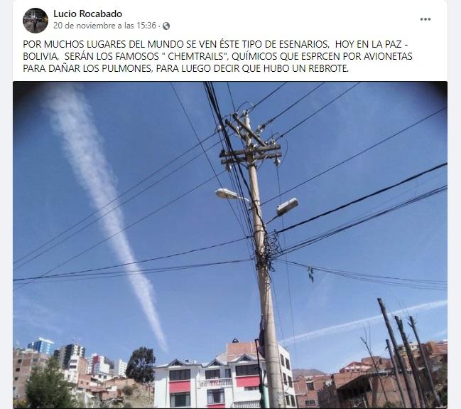Aviones no esparcen químicos para enfermar a la población, se trata de una teoría conspirativa