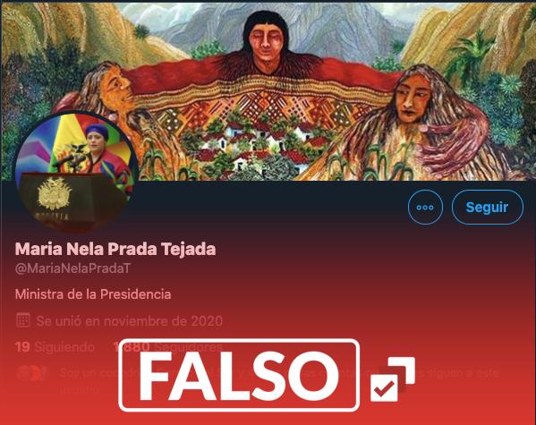 Crean cuenta falsa de la ministra de la Presidencia en Twitter