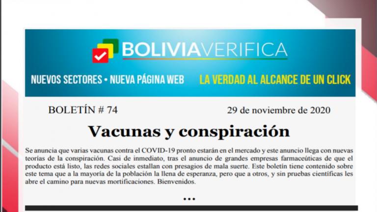 Boletín 74 – Vacunas y conspiración – 2020