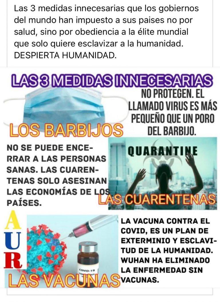 Barbijos, cuarentena y vacunas: no caigas en las 'teorías conspirativas' del coronavirus