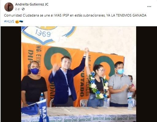 Comunidad Ciudadana no se unió al MAS para las elecciones subnacionales en Santa Cruz