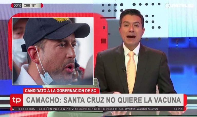 No es verdad que Camacho declaró que Santa Cruz no quiere vacunas