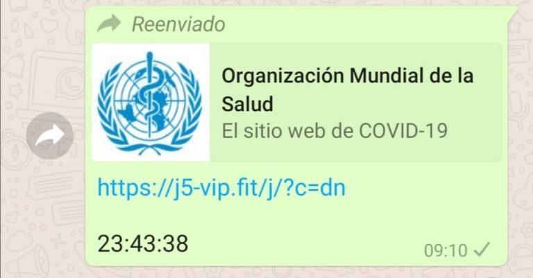 La OMS no está ofreciendo ayudas de 500 euros por la pandemia