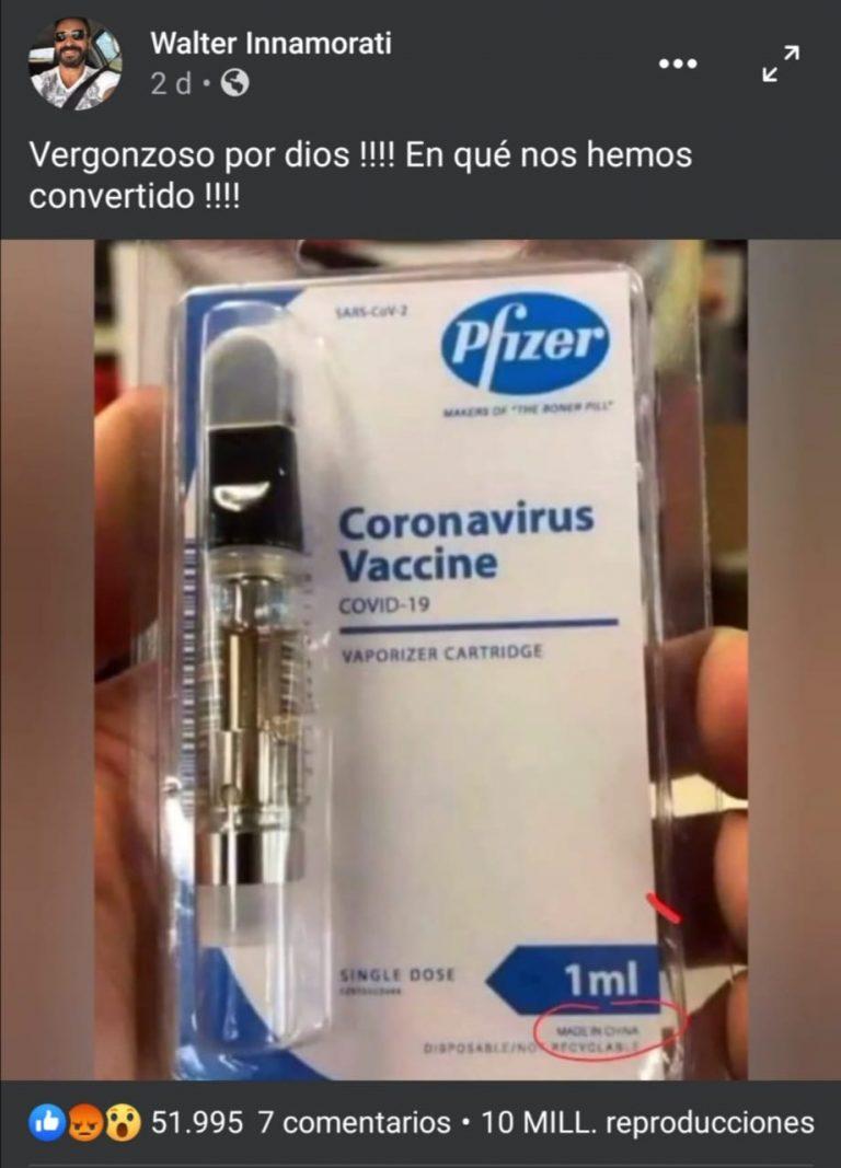 Falso, la vacuna de Pfizer no tiene licencia de fabricación en China