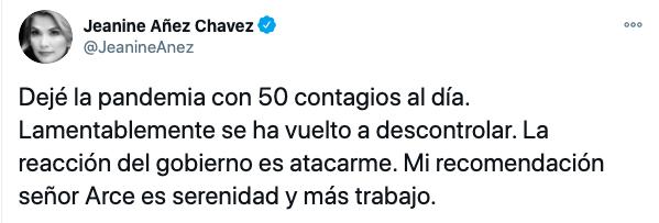 Engañoso: Jeanine Áñez dice que dejó la pandemia «con 50 contagios al día»