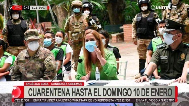 Falso: Alcaldía de Santa Cruz no dictó cuarentena hasta el 10 de enero
