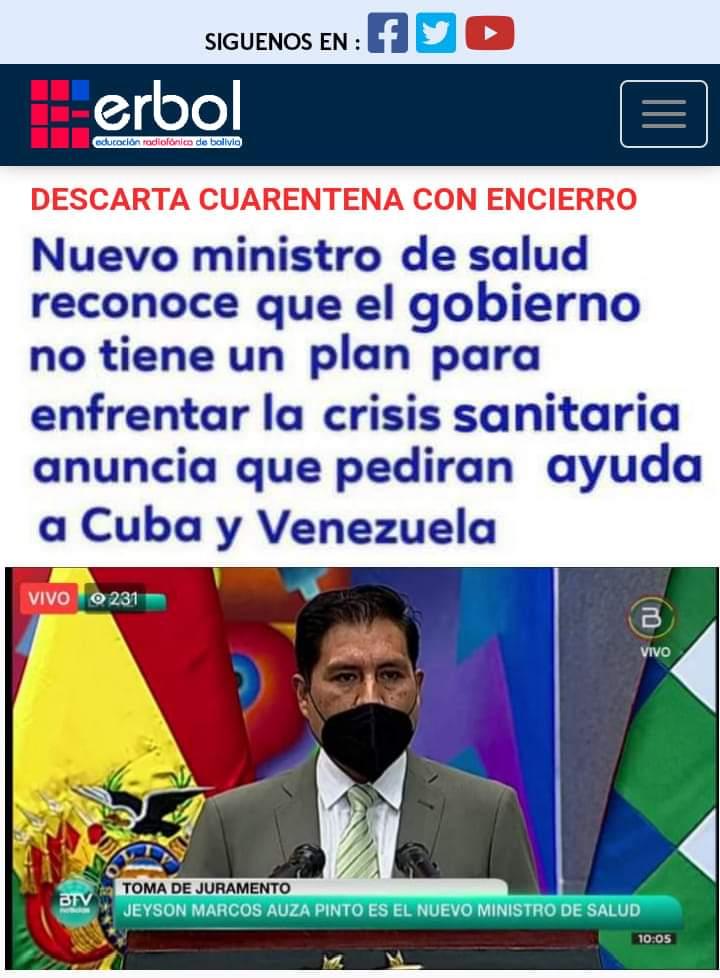 """Es falso que el ministro de Salud reconoció que el gobierno """"no tiene un plan para la crisis sanitaria"""""""