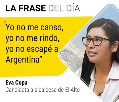 Circula falsa publicación sobre Eva Copa y una frase del movimiento 'pitita'
