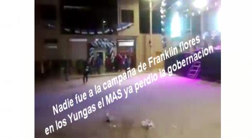 Con un video del 2019 aseguran que el candidato Franklin Flores no tiene apoyo en los Yungas