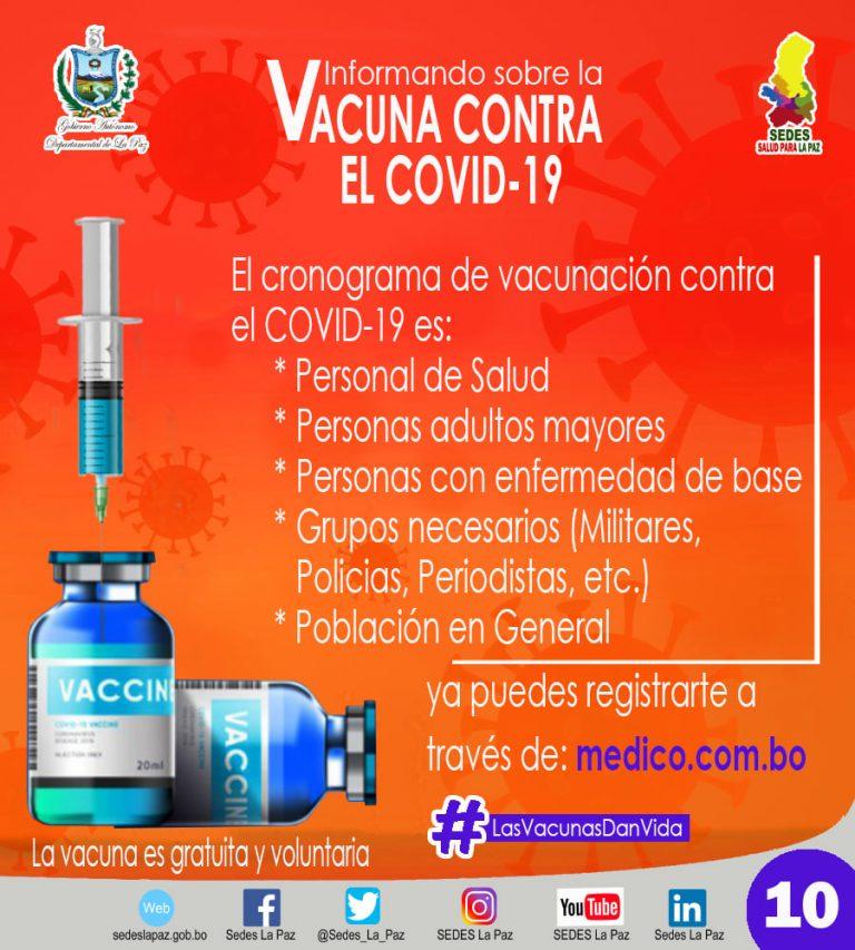 Cómo hacer el prerregistro para la vacunación contra la Covid-19 en La Paz