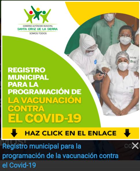 Conoce los pasos a seguir para el Registro Municipal de vacunación contra la Covid-19 en Santa Cruz