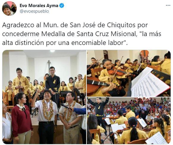 No es actual: Circula una imagen de Evo Morales visitando San José de Chiquitos