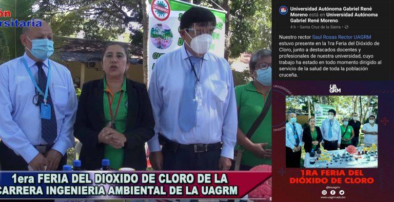 """La Uagrm hizo una """"feria del dióxido de cloro"""" pese a que no existe evidencia científica que respalde su consumo"""