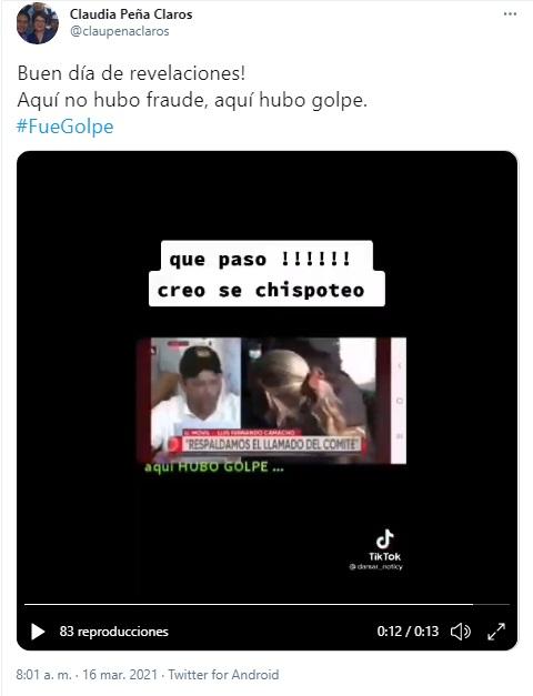 Luis Fernando Camacho no dijo que hubo golpe de Estado, este video está manipulado
