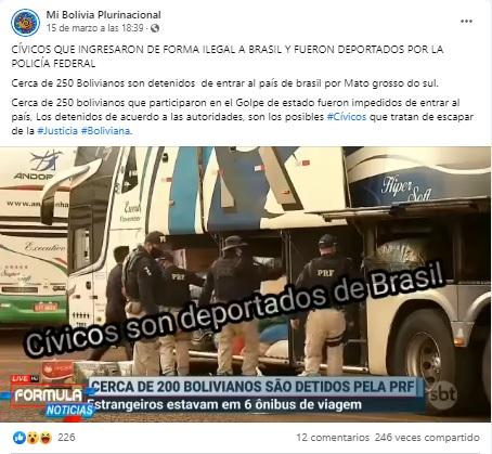Con un vídeo del 2020 aseguran que cívicos bolivianos trataron de ingresar ilegalmente a Brasil