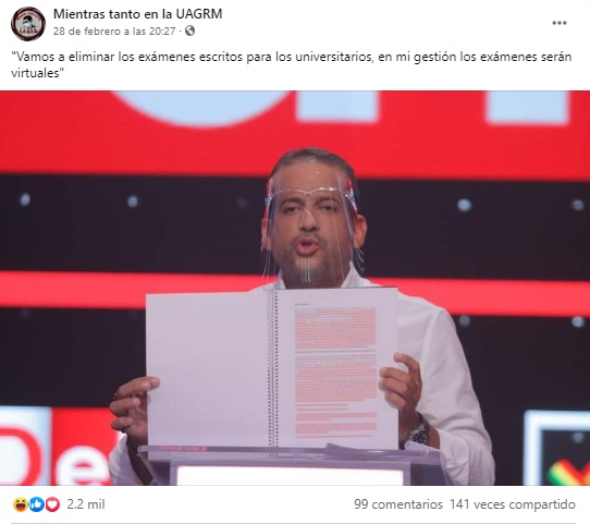 Luis Fernando Camacho no dijo que pretende eliminar los exámenes escritos para los universitarios
